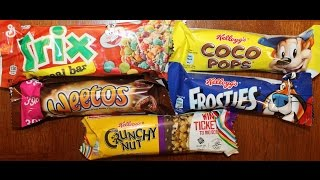 UK Cereal Bars: Trix, Coco Pops, Weetos, Frosties & Crunchy Nut Review