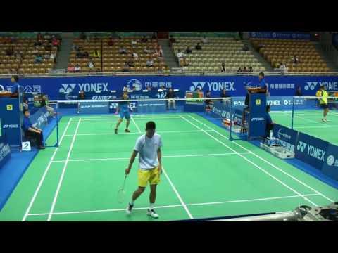 R1 Shu Howard vs Beryno Jiann Tze Wong Nice Camera Badminton Taipei Open 2015