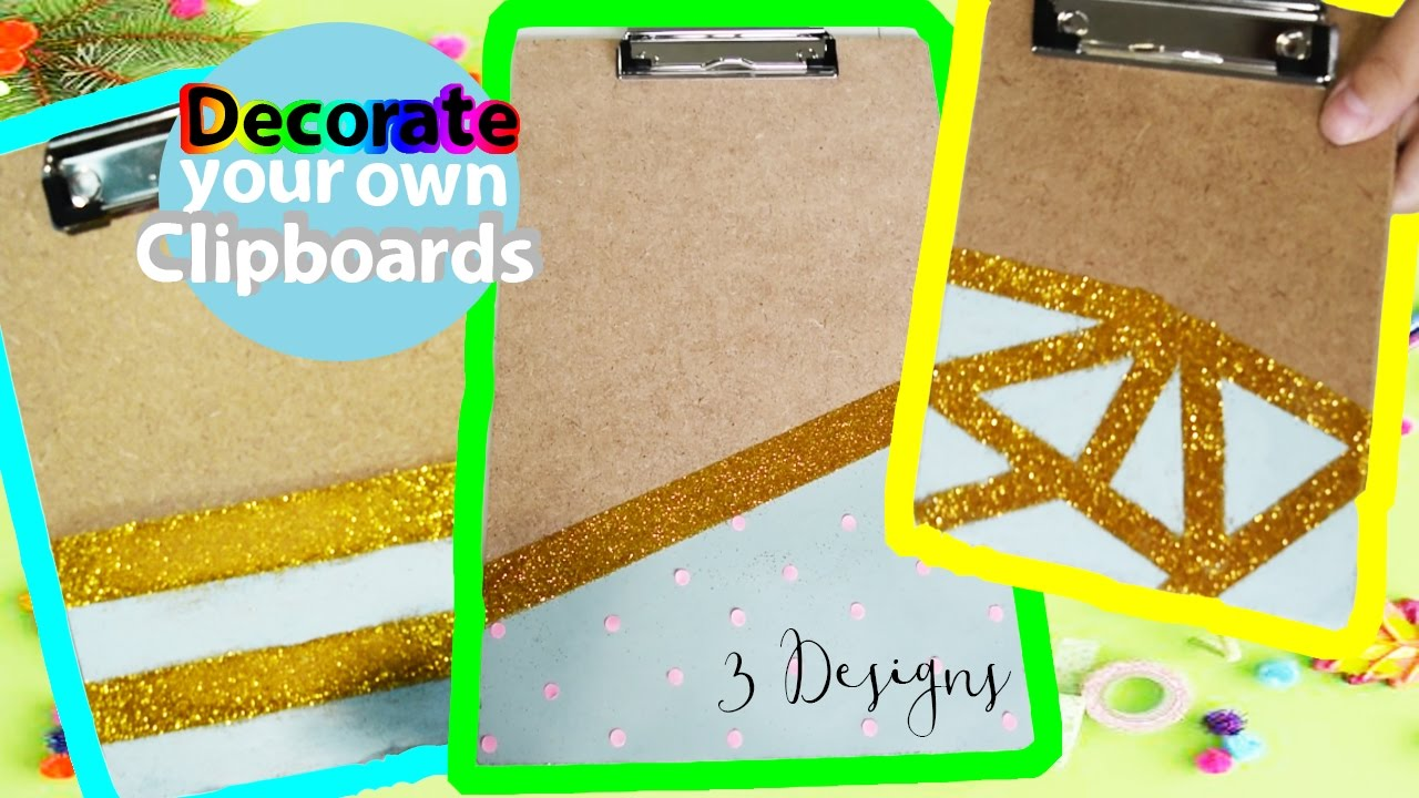 3 Diy Clipboard Designs Youtube