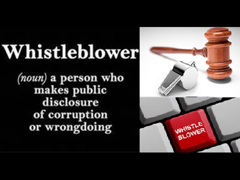 Whistle Blower Protection? Will It Really Protect You? Why People Don't Do It