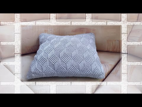 Вяжем подушку спицами видео уроки