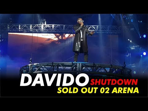DAVIDO SHUTDOWN/SOLD OUT 02 ARENA, LONDON 2019.One of the Biggest Artist in Africa, He goes by the name Davido