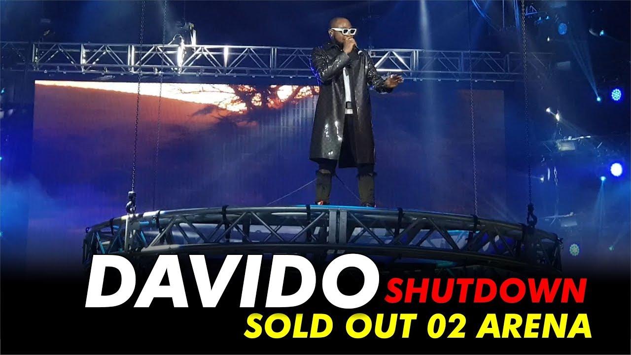 DAVIDO SHUTDOWN/SOLD OUT 02 ARENA, LONDON 2019