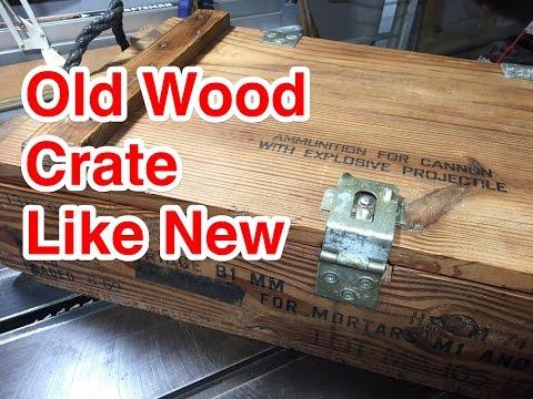 014 Refurbish A Vintage Wooden Crate