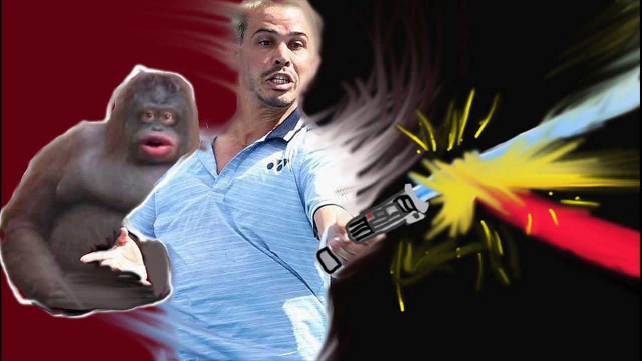 Uh oh stinky (lightsaber tennis) meme - YouTube