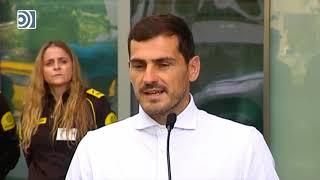 """Iker Casillas emocionado, tras recibir el alta hospitalaria: """"No sé cómo va a ser mi futuro"""""""