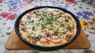 Как приготовить пиццу за 5 минут в сковороде!? Рецепт домашней пиццы за 5 минут.