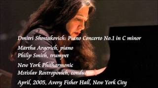 Shostakovich: Piano Concerto No.1 in C minor - Argerich / Rostropovich / New York Philharmonic