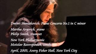 Shostakovich: Piano Concerto No.1 in C minor - Argerich / Rostropovich / New York Philharmonic