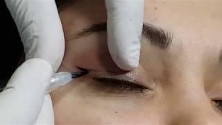 Татуаж глаз  Верхняя стрелка 1