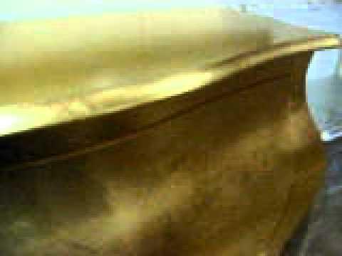 Como cassettone bombato foglia oro youtube