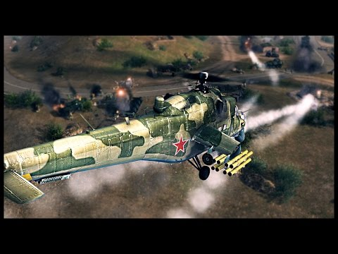 Russian Air Sea and Land Assault - Battle of Hill 55 | Men of War Assault Squad Modern Mod Gameplay