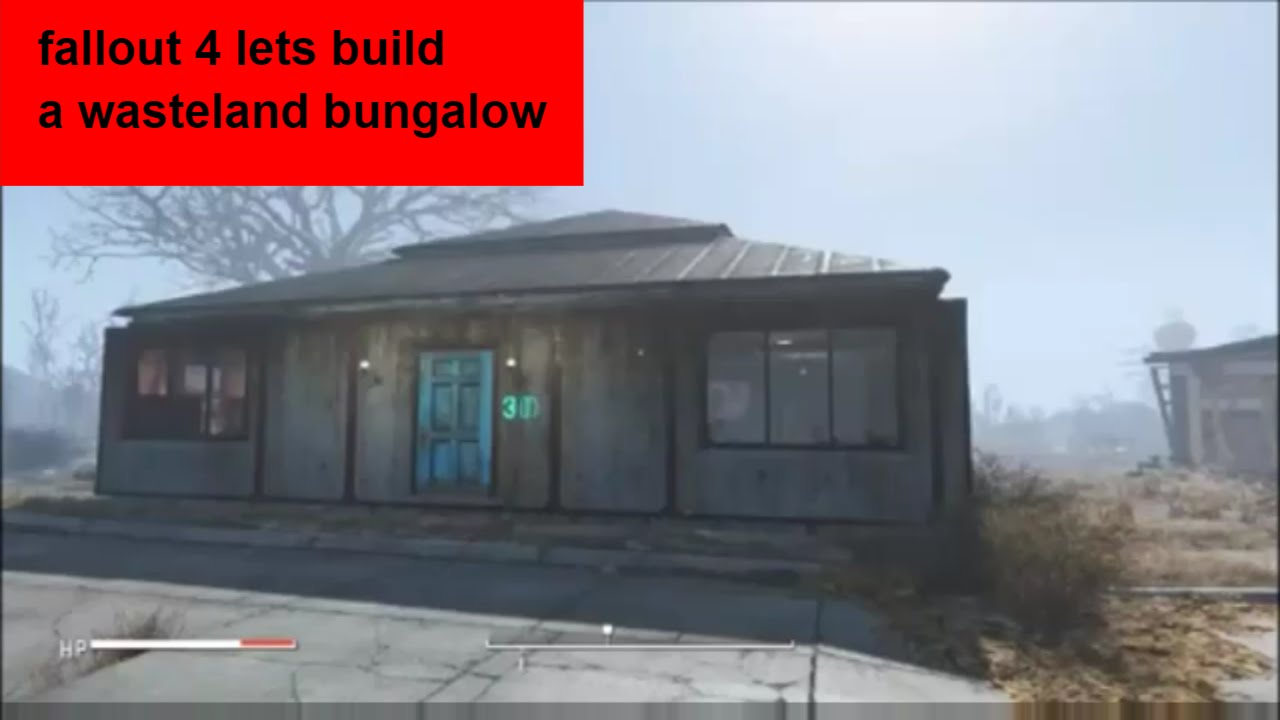 Fallout 4 Lets Build A Wasteland Bungalow   YouTube