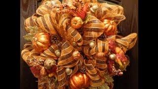 Geo or Deco Mesh Fall Wreath