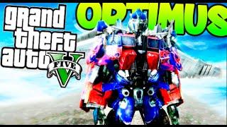 OPTIMUS PRIME EN GTA V OMG INCREIBLE !! GTA 5 MODS PC Makiman