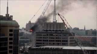 Crane Fire and Jib Collapse UTS Sydney 27 Nov 2012