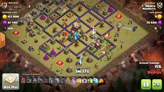 COC WAR  BEST GROUND ATTACK - TH10 ATTACKING TH11 (DRACO - MADGUYS CLAN)