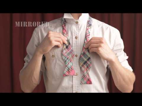How To Tie Bow Tie Mirrored