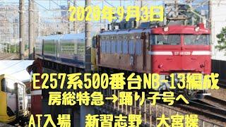 2020年9月3日EF81139号機牽引 E257系500番台 NB-13編成 修善寺踊り子転用改造のため配給回送
