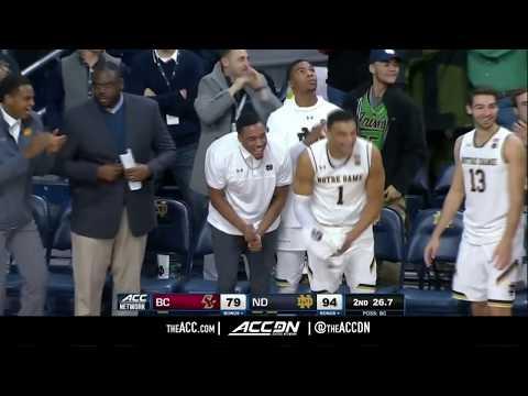 Boston College vs Notre Dame College Basketball Condensed Game 2018