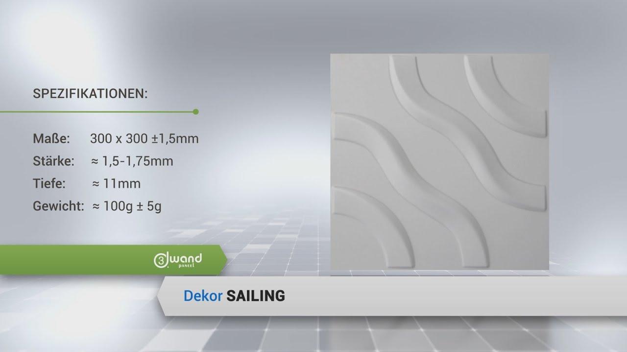 3d wandpaneel sailing wandverkleidung deckenpaneele. Black Bedroom Furniture Sets. Home Design Ideas