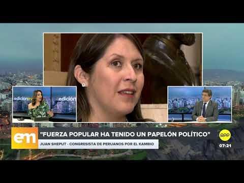 """Juan Sheput: """"Fuerza Popular ya no puede hacer lo que le da la gana en el Congreso"""""""