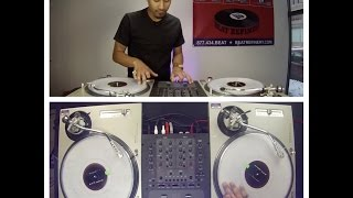 Learn to dj tutorial: effective scratches for mixing out of songs (dj as-one)