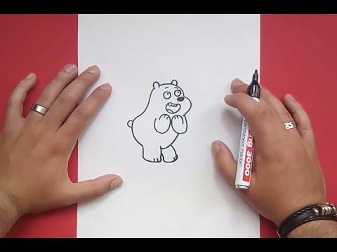 Como dibujar a Pardo paso a paso - Somos Osos   How to draw Grizzly ...