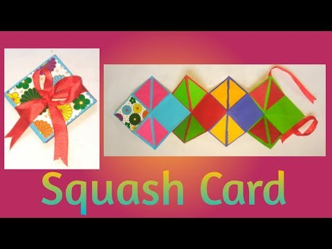 How to make Squash Card/Card for Scrapbook/photo Card