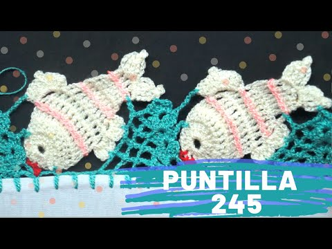 Puntilla 245   PECESITOS   Puntillas Maribel
