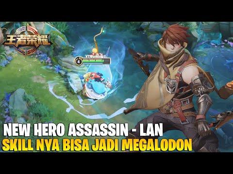 REVIEW HERO BARU SUPER OP! SKILL NYA BISA BERUBAH JADI HIU MEGALODON  LAN KING OF GLORY GAMEPLAY