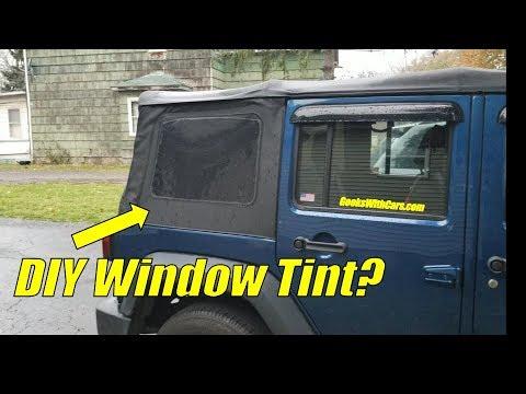 Tinting My Jeep Wrangler Soft Top Windows Diy Jeep Soft