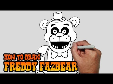 How to Draw Freddy Fazbear- Five Nights at Freddy's- Video Lesson thumbnail