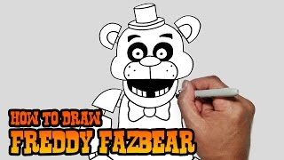 How to Draw Freddy Fazbear- Five Nights at Freddy's- Video Lesson(Learn how to draw Freddy Fazbear from Five Night's at Freddy's in this easy step by step video tutorial. All my lessons are narrated and drawn in real time., 2015-02-03T08:09:23.000Z)