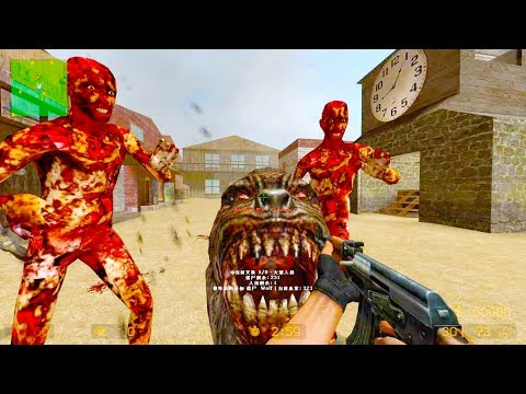 Counter Strike Source - Zombie Riot Mod Online Gameplay On Eldorado Map