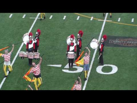 Calgary Showbands Live 2016 - Finals - Bishop Grandin Marching Ghosts - closeup - Drumline only