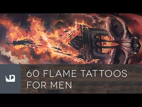50 Flaming Skull Tattoos For Men – Blazing Bone Design Ideas