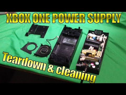 Open & Clean Xbox One Power Supply
