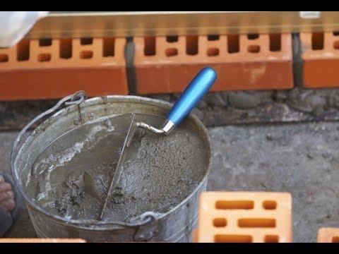 Замес раствора для кирпичной кладки (пропорции песка и цемента)