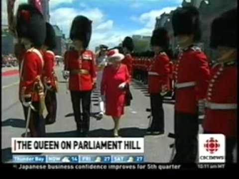 Queen Arrives At Parliament Hill 2010