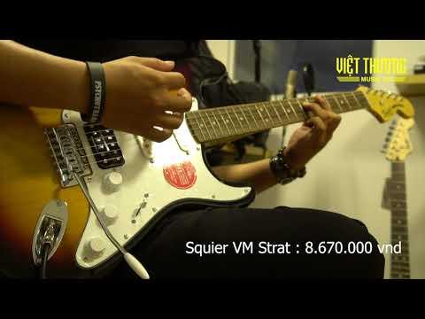 Demo đàn guitar điện Squier Series / Electric guitar Squier