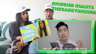 Couple Reacts : TheGabbieShow Roasts me (Diss Track) by RiceGum Reaction!!!!