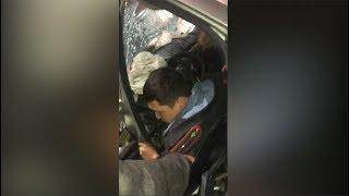 """""""Он пьян!"""" — страшная авария в Бишкеке с участием милиционера"""
