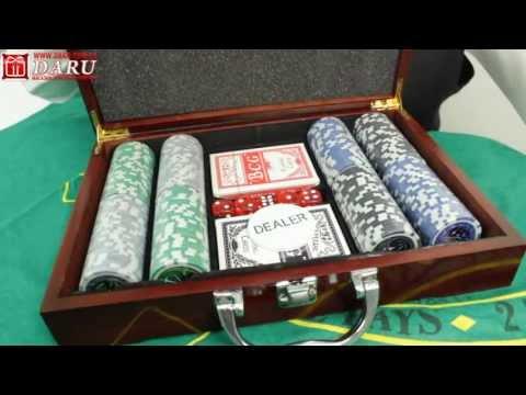 Покерный набор в кейсе, 200 фишек. Отличный покерный набор!