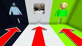 Minecraft : DO NOT CHOOSE THE WRONG DOOR (Slendrina,Granny,Baldi)
