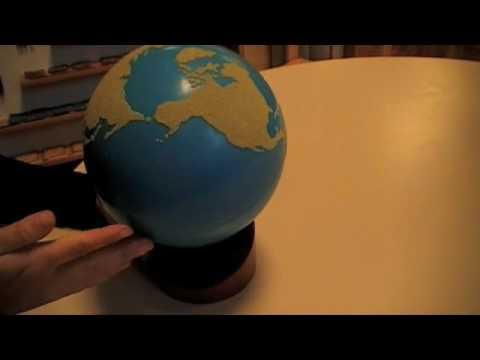 Montesori - Practical Life - Stereognostic Sense - Sandpaper Globe