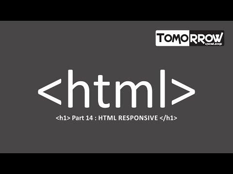 Tomorrow Knowledge : HTML Responsive Part-14