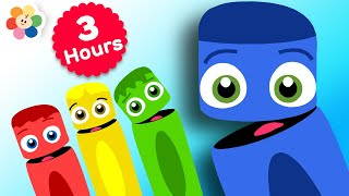 Learn Colors for Babies w Color Crew | 3 Hours Compilation | Educational Learning Video for Toddlers