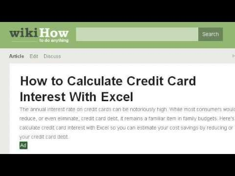 How To Calculate Credit Card Minimum Payments In Excel