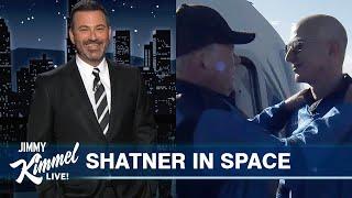 William Shatner Travels to Space on Jeff Bezos' Intergalactic Wienermobile
